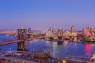 Brooklyn Bridge, designed by John Augustus Roebling, Connecting Brooklyn and Manhattan, New York City, NY