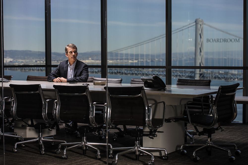 Portrait of Bill Nolan in the boardroom of Passport Capital in San Francisco, CA | Hedge Fund Journal (UK)
