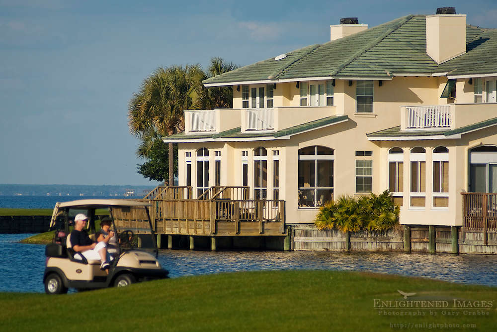 Homes and golf course at The Sandestin Golf & Beach Resort; Destin; Florida