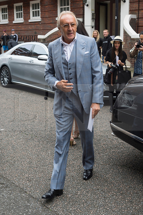 © Licensed to London News Pictures. 17/09/2016. SIT HAROLD TILLMAN arrives for the JULIEN MACDONALD Spring/Summer 2017 show. Models, buyers, celebrities and the stylish descend upon London Fashion Week for the Spring/Summer 2017 clothes collection shows. London, UK. Photo credit: Ray Tang/LNP