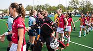 LAREN -  Hockey -   keeper Larissa Meijer (Oranje-Rood) Hoofdklasse dames Laren-Oranje Rood (0-4). Oranje Rood plaatst zich voor Play Offs.  COPYRIGHT KOEN SUYK