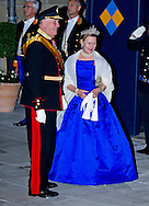 "KING HARALD AND QUEEN SONJA OF NORWAY.Wedding of HRH the Hereditary Grand Duke and Countess Stéphanie de Lannoy.Gala Dinner at the Grand-Ducal Palace, Luxembourg_19-10-2012.Mandatory credit photo: ©Dias/NEWSPIX INTERNATIONAL..(Failure to credit will incur a surcharge of 100% of reproduction fees)..                **ALL FEES PAYABLE TO: ""NEWSPIX INTERNATIONAL""**..IMMEDIATE CONFIRMATION OF USAGE REQUIRED:.Newspix International, 31 Chinnery Hill, Bishop's Stortford, ENGLAND CM23 3PS.Tel:+441279 324672  ; Fax: +441279656877.Mobile:  07775681153.e-mail: info@newspixinternational.co.uk"