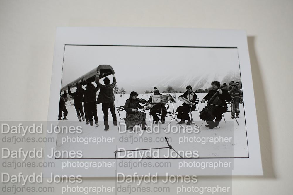 Not the Amadeus String Quartet. Dangerous Sports Club Ski Race St.Moritz 1983.