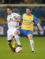 31-10-2007: Voetbal: KNVB Beker RKC Waalwijk - BV Veendam: Waalwijk<br /> Hans Mulder in duel met Patrick Lip.<br /> Foto: Dennis Spaan