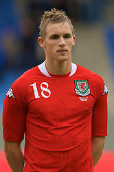 REYKJAVIK, ICELAND - Wednesday, May 28, 2008: Wales' Jack Collison lines-up before the international friendly match against Iceland at the Laugardalsvollur Stadium. (Photo by David Rawcliffe/Propaganda)