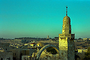 Sunset over the religions, Old City, Jerusalem, Israel