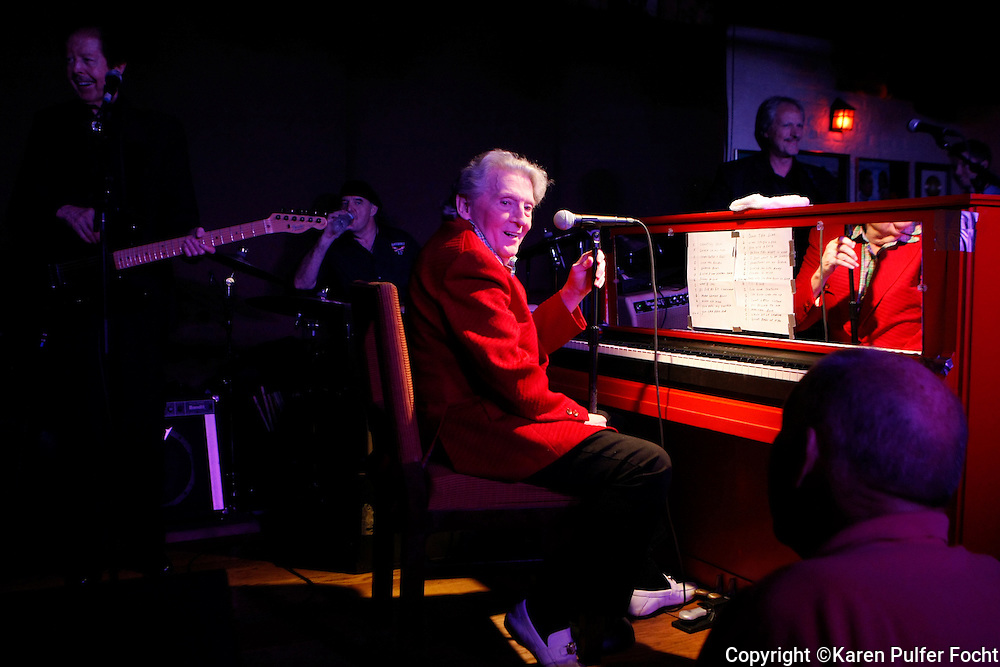 Rock and Roll legend and piano great JERRY LEE LEWIS, age 77, plays to a packed room at his namesake club on Beale Street in Memphis, Tennessee on Saturday night.