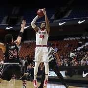 Ron Mvouika, St. John's, shoots during the St. John's vs South Carolina Men's College Basketball game in the Hall of Fame Shootout Tournament at Mohegan Sun Arena, Uncasville, Connecticut, USA. 22nd December 2015. Photo Tim Clayton