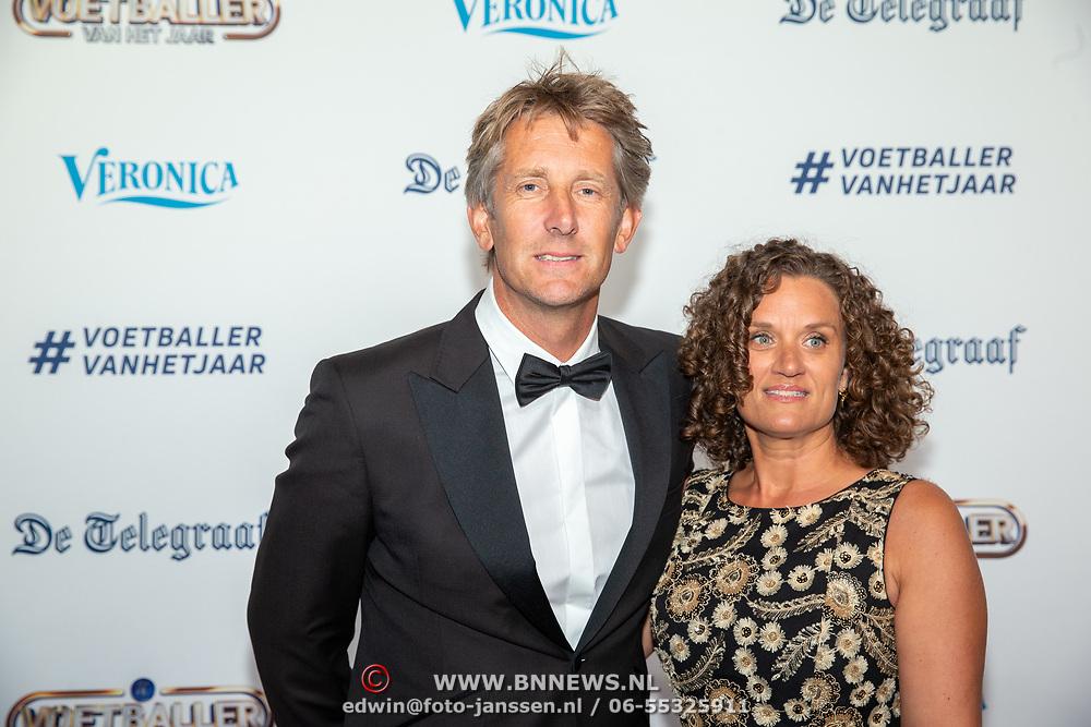 NLD/Hilversum/20190902 - Voetballer van het jaar gala 2019, Edwin van der Sar en partner Annemarie van Kesteren
