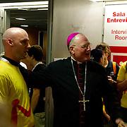 Archbishop Timothy Dolan greets the Diocese of Trenton Pilgrims