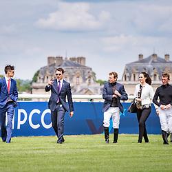 AP O'Brien, S. Heffernam, RL. Moore walking the track before Prix de Jockey Club in Chantilly, France, 04/06/2017 Photo: Zuzanna Lupa / Racingfotos.com