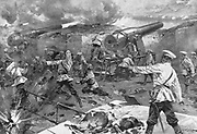 Russo-Japanese War 1904-1905:  Russian battery in action during the siege of Port Arthur, January 1905