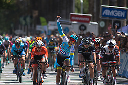 Arlenis Sierra Canadilla (CUB) of Astana Women Cycling Team wins Stage 3 of the Amgen Tour of California - a 70 km road race, starting and finishing in Sacramento on May 19, 2018, in California, United States. (Photo by Balint Hamvas/Velofocus.com)