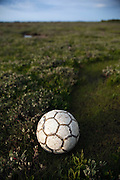 Found football, Bull Island, Dublin. <br />