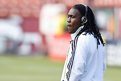 August 4, 2010; San Francisco, CA, USA;  Real Madrid midfielder Royston Drenthe (15) before the game at against Club America Candlestick Park. Real Madrid defeated Club America 3-2.