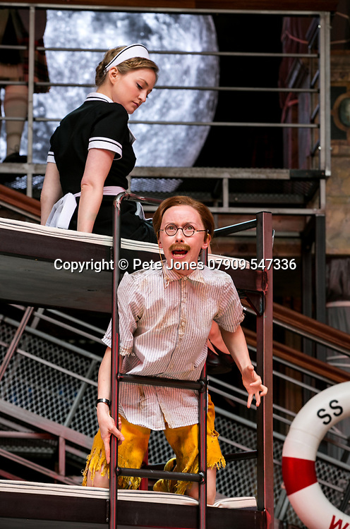 Twelfth Night by William Shakespeare;<br /> Directed by Emma Rice;<br /> Katy Owen as Malvolio;<br /> Carly Bawden as Maria the maid;<br /> Shakespeare's Globe;<br /> London, UK;<br /> 23 May 2017.<br /><br />© Pete Jones<br />pete@pjproductions.co.uk