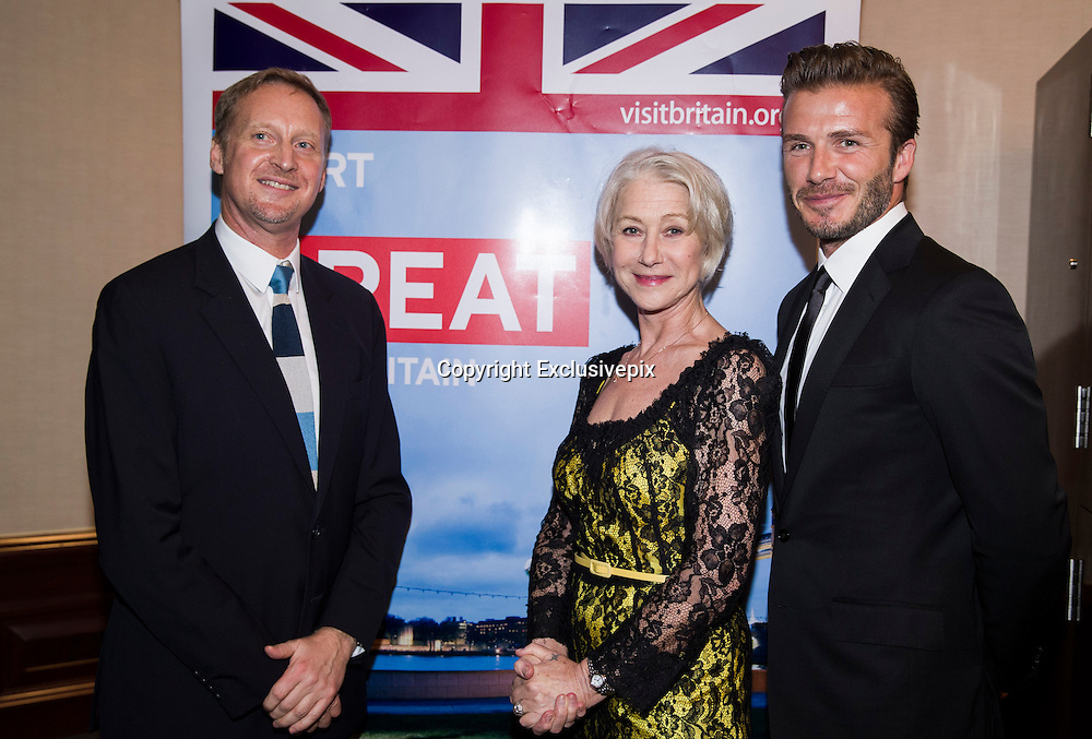 SHANGHAI, CHINA - JUNE 19: (CHINA OUT) <br /> <br /> David Beckham Attends Business Event In Shanghai <br /> <br /> Ambassador to China Sebastian Wood, actress Helen Mirren and David Beckham attend business event on June 19, 2013 in Shanghai, China.<br /> ©Exclusivepix