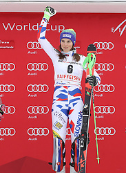 28.01.2018, Lenzerheide, SUI, FIS Weltcup Ski Alpin, Lenzerheide, Slalom, Damen, Siegerehrung, im Bild Petra Vlhova (SVK) // Petra Vlhova of Slovakia during the winner Ceremony for the ladie's Slalom of FIS Ski Alpine World Cup in Lenzerheide, Austria on 2018/01/28. EXPA Pictures © 2018, PhotoCredit: EXPA/ Sammy Minkoff<br /> <br /> *****ATTENTION - OUT of GER*****