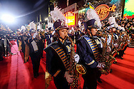 Marching band perform along Hollywood Boulevard during the 85th Annual Hollywood Christmas Parade in Los Angeles on Sunday December 27, 2016. (Photo by Ringo Chiu/PHOTOFORMULA.com)<br /> <br /> Usage Notes: This content is intended for editorial use only. For other uses, additional clearances may be required.
