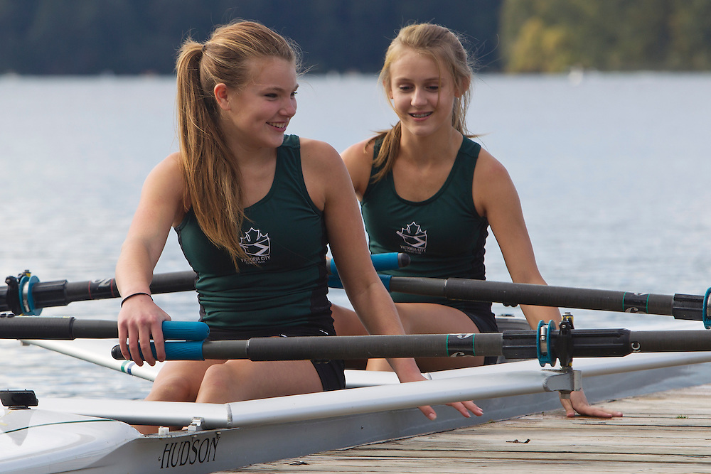 Amanda and Emma Victoria City Rowing Club photo