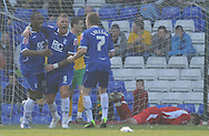 Birmingham - Saturday March 21st, 2009: Cameron Jerome of Birmingham City celebrates his goal against Norwich City during the Coca Cola Championship match at St Andrews, Birmingham. (Pic by Alex Broadway/Focus Images)