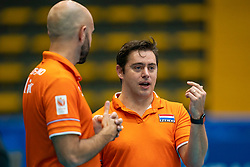 02-08-2019 ITA: FIVB Tokyo Volleyball Qualification 2019 / Belgium - Netherlands, Catania<br /> 1e match pool F in hall Pala Catania between Belgium - Netherlands / Ass coach Alessandro Beltrami of Netherlands