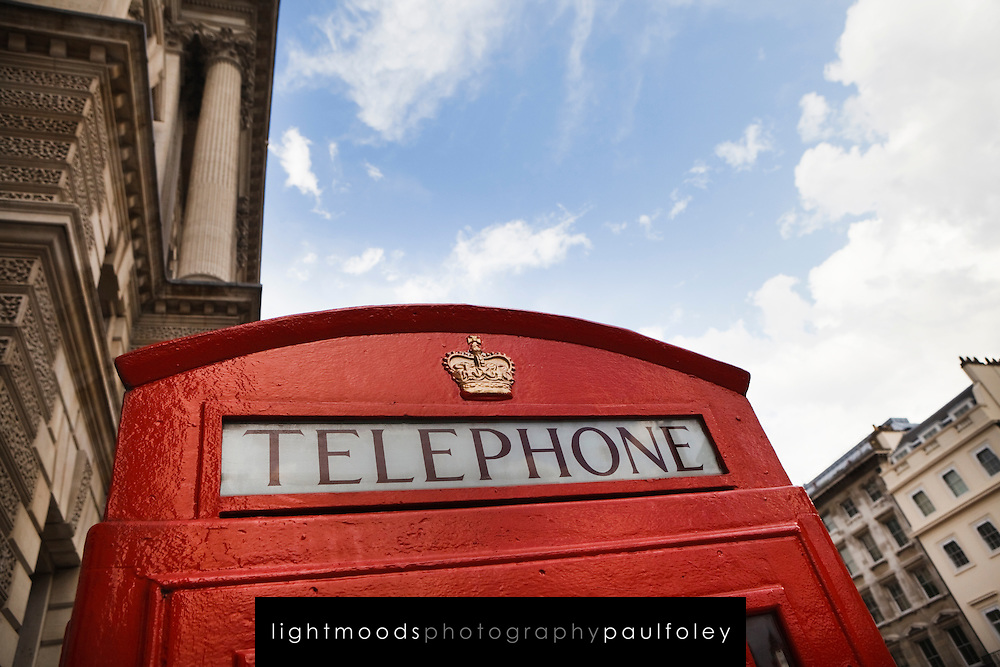 Red Telephone Box with Royal Crown,London, UK
