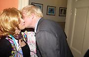 Lady Wyatt and Boris Johnson. Spectator party. Doughty St. London. 28 July 2005.