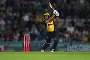 Andrew Salter of Glamorgan batting during the Vitality T20 Blast South Group match between Hampshire County Cricket Club and Glamorgan County Cricket Club at the Ageas Bowl, Southampton, United Kingdom on 2 August 2019.