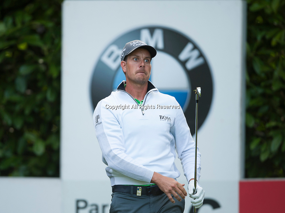 23.05.2014. Wentworth, England.   Henrik STENSON [SWE] during the second round of the 2014 BMW PGA Championship from The West Course Wentworth Golf Club