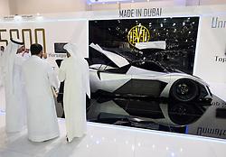 Devel prototype supercar at the Dubai Motor Show 2013 United Arab Emirates
