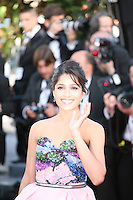 Actress Freida Pinto at the gala screening of the film Moonrise Kingdom at the 65th Cannes Film Festival. Wednesday 16th May 2012, the red carpet at Palais Des Festivals in Cannes, France.