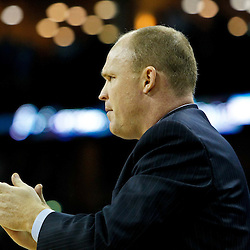 October 27, 2010; New Orleans, LA, USA;  Milwaukee Bucks head coach Scott Skiles watches from the bench during the second half against the New Orleans Hornets at the New Orleans Arena. The Hornets defeated the Bucks 95-91.  Mandatory Credit: Derick E. Hingle