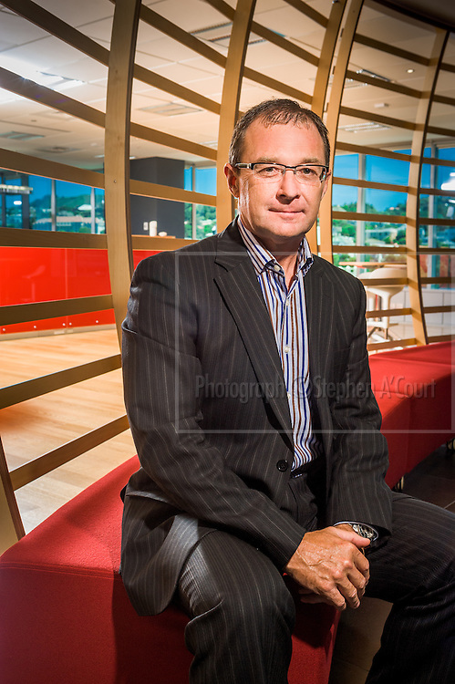 Mr Kevin Bowler, Tourism New Zealand chief executive, photographed in TNZ offices in Wellington.