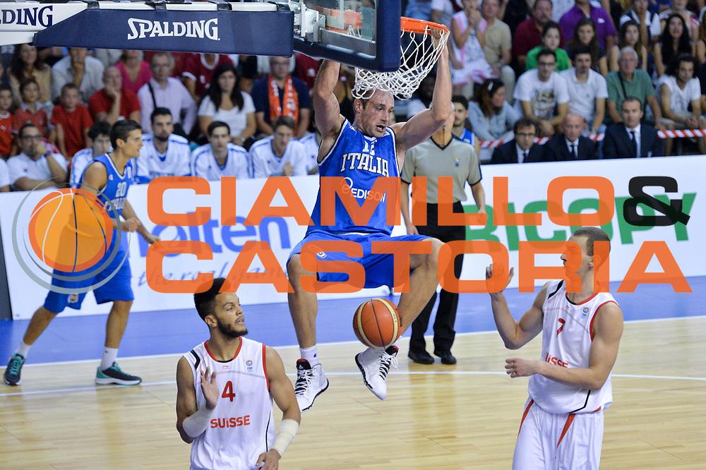 DESCRIZIONE : Bellinzona Qualificazione Eurobasket 2015 Qualifying Round Eurobasket 2015 Svizzera Italia Switzerland Italy <br /> GIOCATORE : Marco Cusin<br /> CATEGORIA : Tiro<br /> EVENTO : Bellinzona Qualificazione Eurobasket 2015 Qualifying Round Eurobasket 2015 Svizzera Italia Switzerland Italy <br /> GARA : Svizzera Italia Switzerland Italy <br /> DATA : 27/08/2014 <br /> SPORT : Pallacanestro <br /> AUTORE : Agenzia Ciamillo-Castoria/Mancini Ivan<br /> Galleria: Fip Nazionali 2014 Fotonotizia: Bellinzona Qualificazione Eurobasket 2015 Qualifying Round Eurobasket 2015 Svizzera Italia Switzerland Italy <br /> Predefinita :