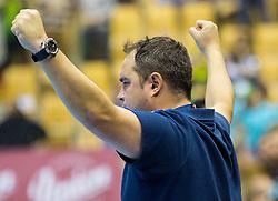 Branko Tamse, head coach of Celje PL reacts during handball match between RK Celje Pivovarna Lasko (SLO) and Rhein-Neckar Loewen (GER) in Round 6 of EHF Champions League 2014/15, on November 23, 2014 in Arena Zlatorog, Celje, Slovenia. Photo by Vid Ponikvar / Sportida
