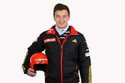 03.01.2014, Kunsteisbahn, Koenigssee, GER, BSD, Rennrodler Team Deutschland, Portrait, im Bild Sascha Benecken (Rodelteam Suhl im SV EGS 48 e V ), // during Luge athletes of team Germany, Portrait Shooting at the Kunsteisbahn in Koenigssee, Germany on 2014/01/04. EXPA Pictures © 2014, PhotoCredit: EXPA/ Eibner-Pressefoto/ Stuetzle<br /> <br /> *****ATTENTION - OUT of GER*****