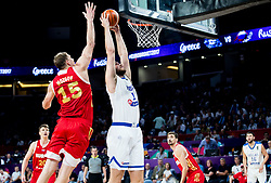 Timofey Mozgov of Russia vs Georgios Papagiannis of Greece during basketball match between National Teams of Greece and Russia at Day 14 in Round of 16 of the FIBA EuroBasket 2017 at Sinan Erdem Dome in Istanbul, Turkey on September 13, 2017. Photo by Vid Ponikvar / Sportida
