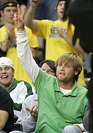15 FEBRUARY 2007: Nate Kaeding (K - San Diego Chargers) acknowledges the crowd during Iowa's 66-58 win over Northwestern at Carver-Hawkeye Arena in Iowa City, Iowa on February 15, 2007.