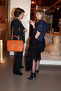 ISABELLE HOTIMSKY; CANDIDA GERTLER;, Outset dinner 2011.  Organised by Yana Peel supported by Swarovskito raise funds for the V+A to starts its contemporary design collection. V & A. London. 23 March 2011. -DO NOT ARCHIVE-© Copyright Photograph by Dafydd Jones. 248 Clapham Rd. London SW9 0PZ. Tel 0207 820 0771. www.dafjones.com.