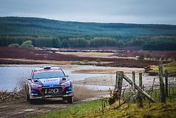 October 5, 2018 - Grande Bretagne - Jari Huttunen (FIN) - Antti Linnaketo (FIN) - Hyundai i20 R5 - WRC2 (Credit Image: © Panoramic via ZUMA Press)