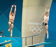 DUMAIS Troy, IPSEN Kristian USA.3 m. synchro springboard.Diving finals.London 2012 Olympics - Olimpiadi Londra 2012.day 06 August 1.Photo G.Scala/Deepbluemedia.eu/Insidefoto