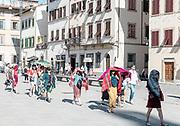 ITALY, FLORENCE: Piazza  di Santa Croce