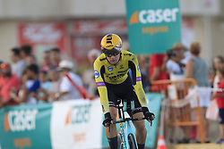 Team Jumbo-Visma after crashing during Stage 1 of La Vuelta 2019, a team time trial running 13.4km from Salinas de Torrevieja to Torrevieja, Spain. 24th August 2019.<br /> Picture: Eoin Clarke | Cyclefile<br /> <br /> All photos usage must carry mandatory copyright credit (© Cyclefile | Eoin Clarke)