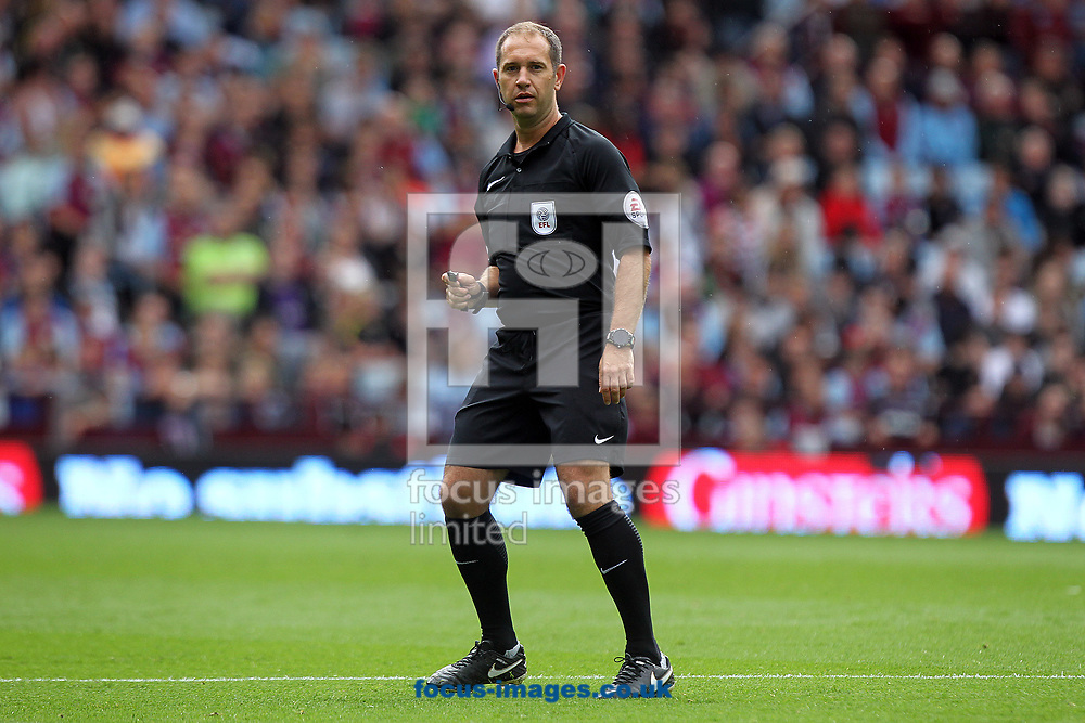 Referee Jeremy Simpson during the Sky Bet Championship match at Villa Park, Birmingham<br /> Picture by Paul Chesterton/Focus Images Ltd +44 7904 640267<br /> 19/08/2017