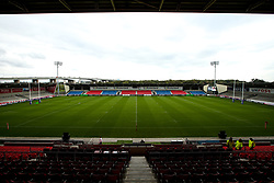 A general view of the AJ Bell Stadium, home to Sale Sharks - Mandatory by-line: Robbie Stephenson/JMP - 05/10/2019 - RUGBY - AJ Bell Stadium - Manchester, England - Sale Sharks v Wasps - Premiership Rugby Cup