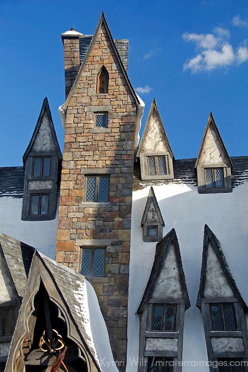 Florida, Orlando. Wizarding World of Harry Potter at Universal Islands of Adventure.