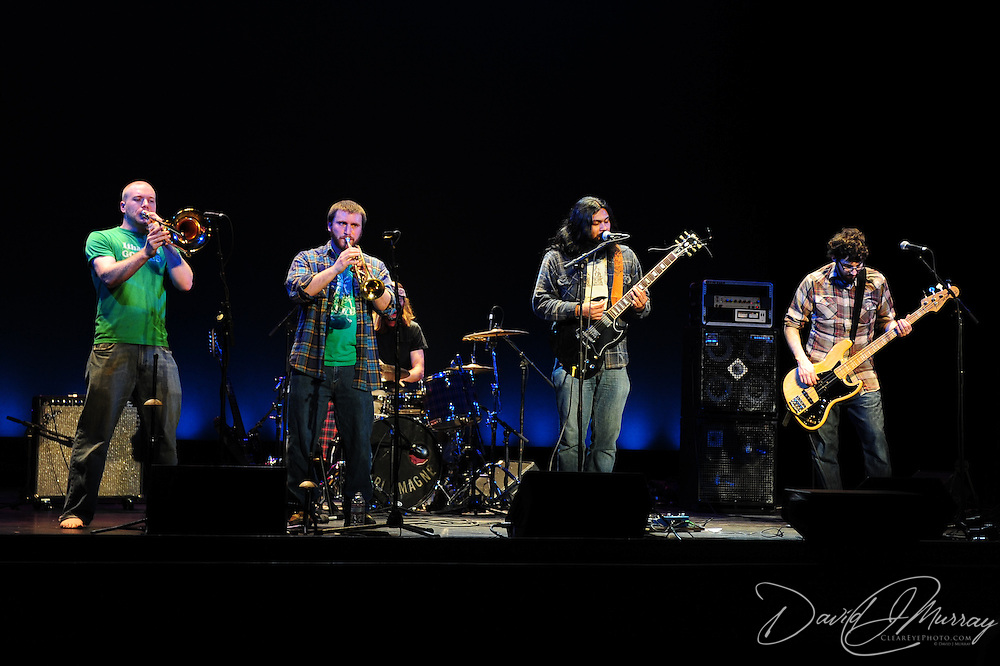 Gnarlemagne opens the Rebirth Brass Band concert at The Music Hall in Portsmouth, NH, April 8, 2011