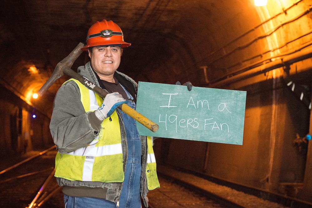 I am a 49er's Fan | Sergio, Muni Track Maintenance | April 9, 2013
