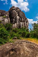 Rock formations, Yala National Park, Southern Province, Sri Lanka.